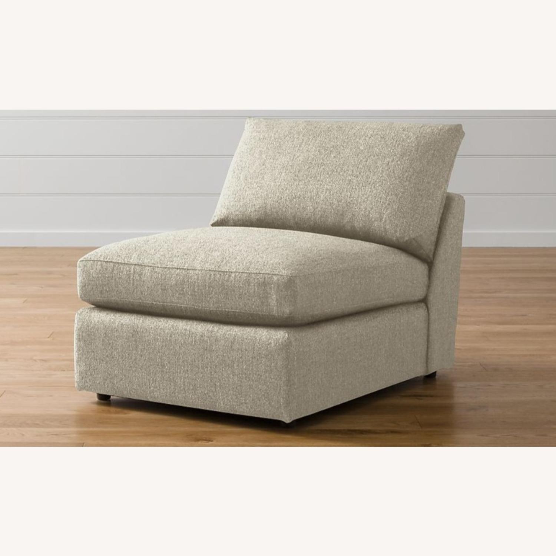 Crate & Barrel Lounge II Armless Chair - image-0