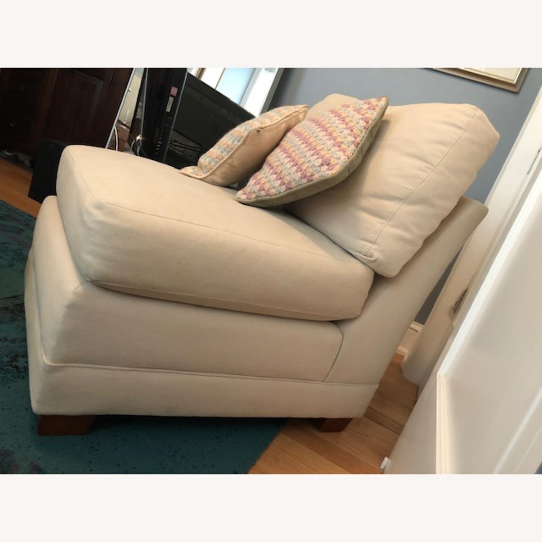 Crate & Barrel Lounge II Armless Chair - image-2
