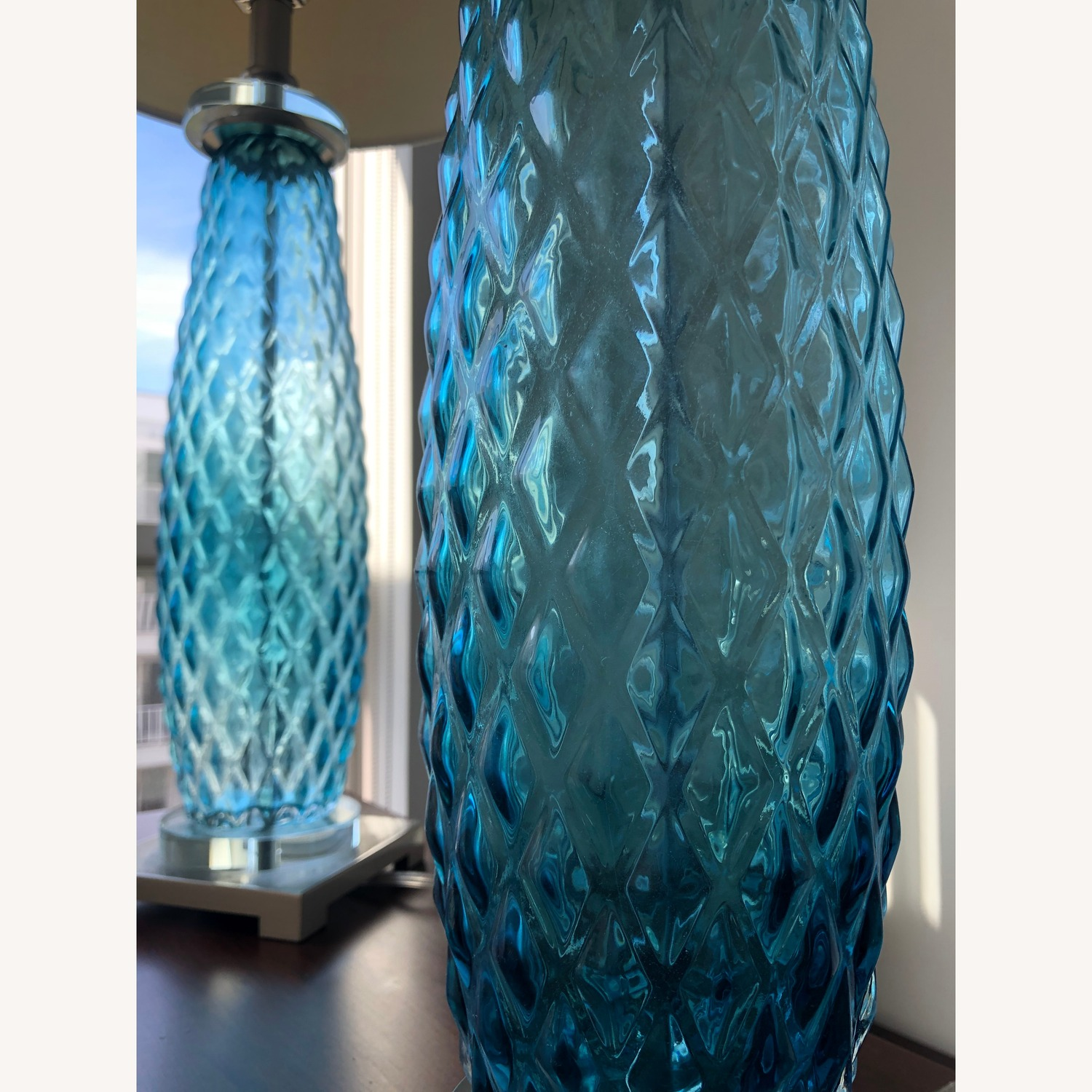 Lamps Plus Blue Textured Table Lamp (x2)
