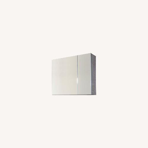 Used Medicine Cabinet Fume Finish Mirror Porcelanosa usa for sale on AptDeco