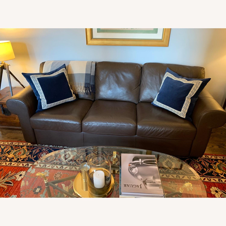 IKEA Brown Leather Ektorp Sofa - image-7