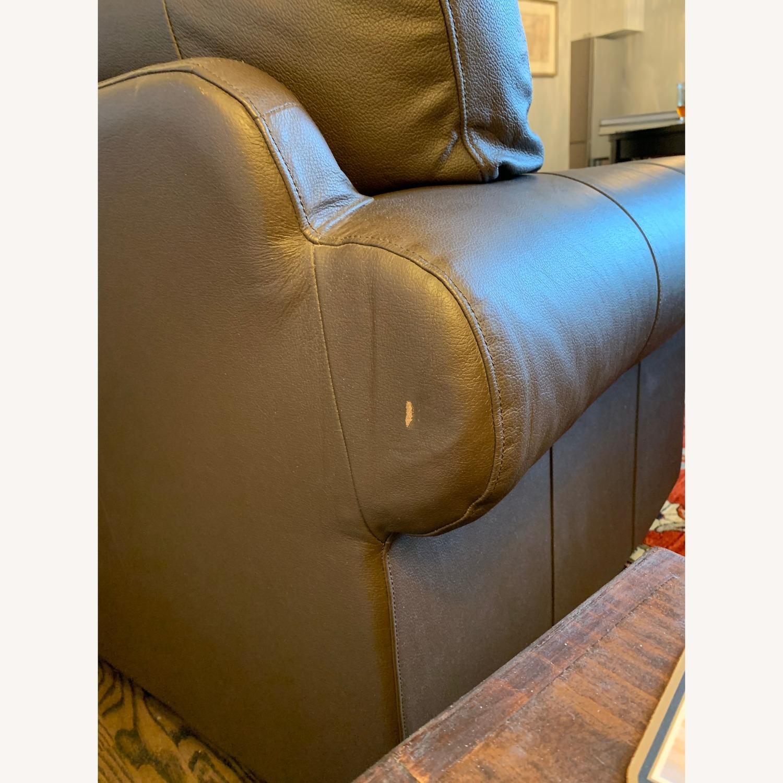 IKEA Brown Leather Ektorp Sofa - image-4