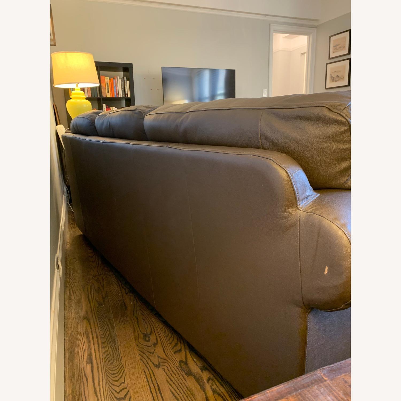 IKEA Brown Leather Ektorp Sofa - image-5