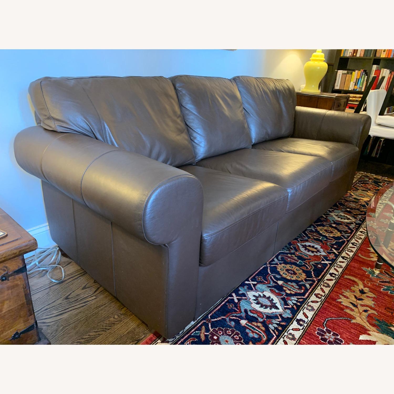 IKEA Brown Leather Ektorp Sofa - image-3