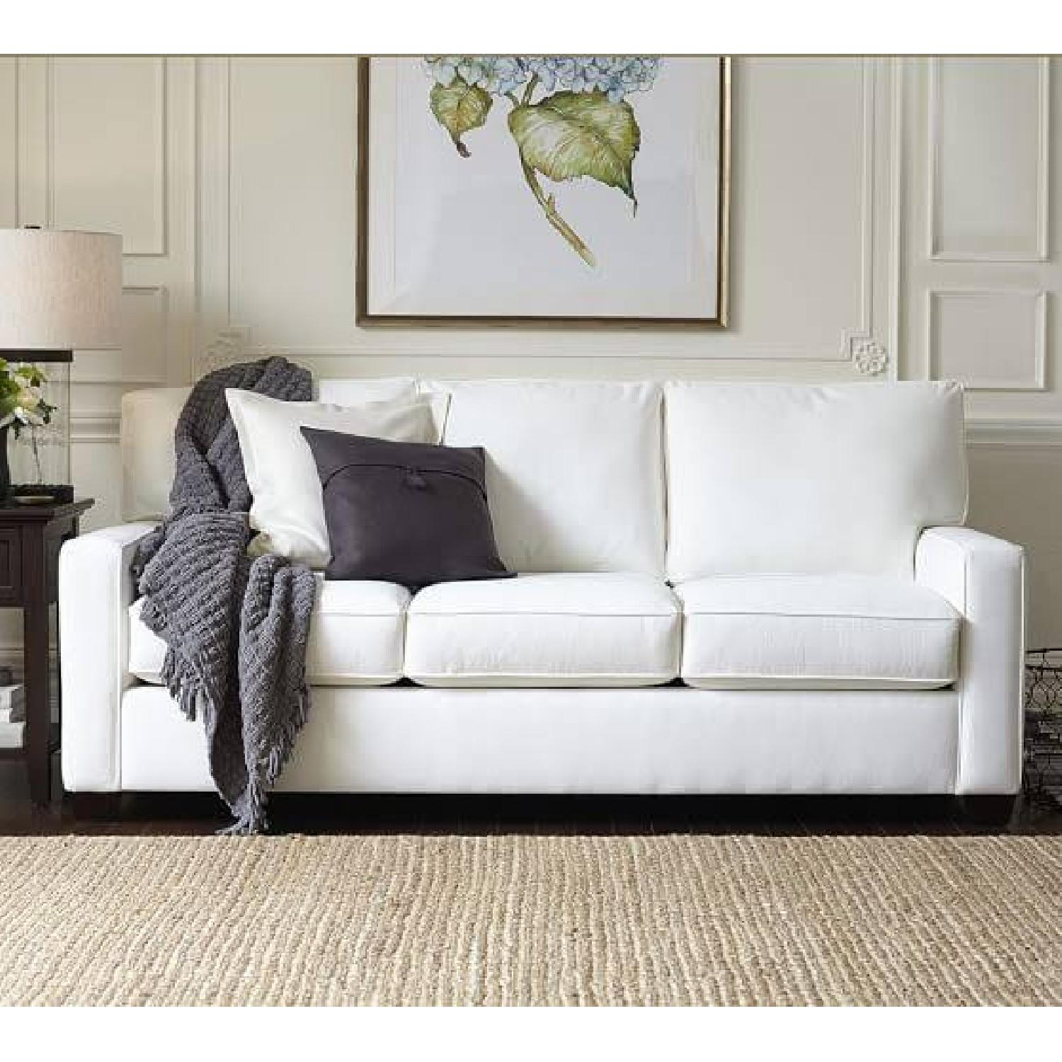 Pottery Barn Buchanan Square Arm Upholstered Couch - image-4