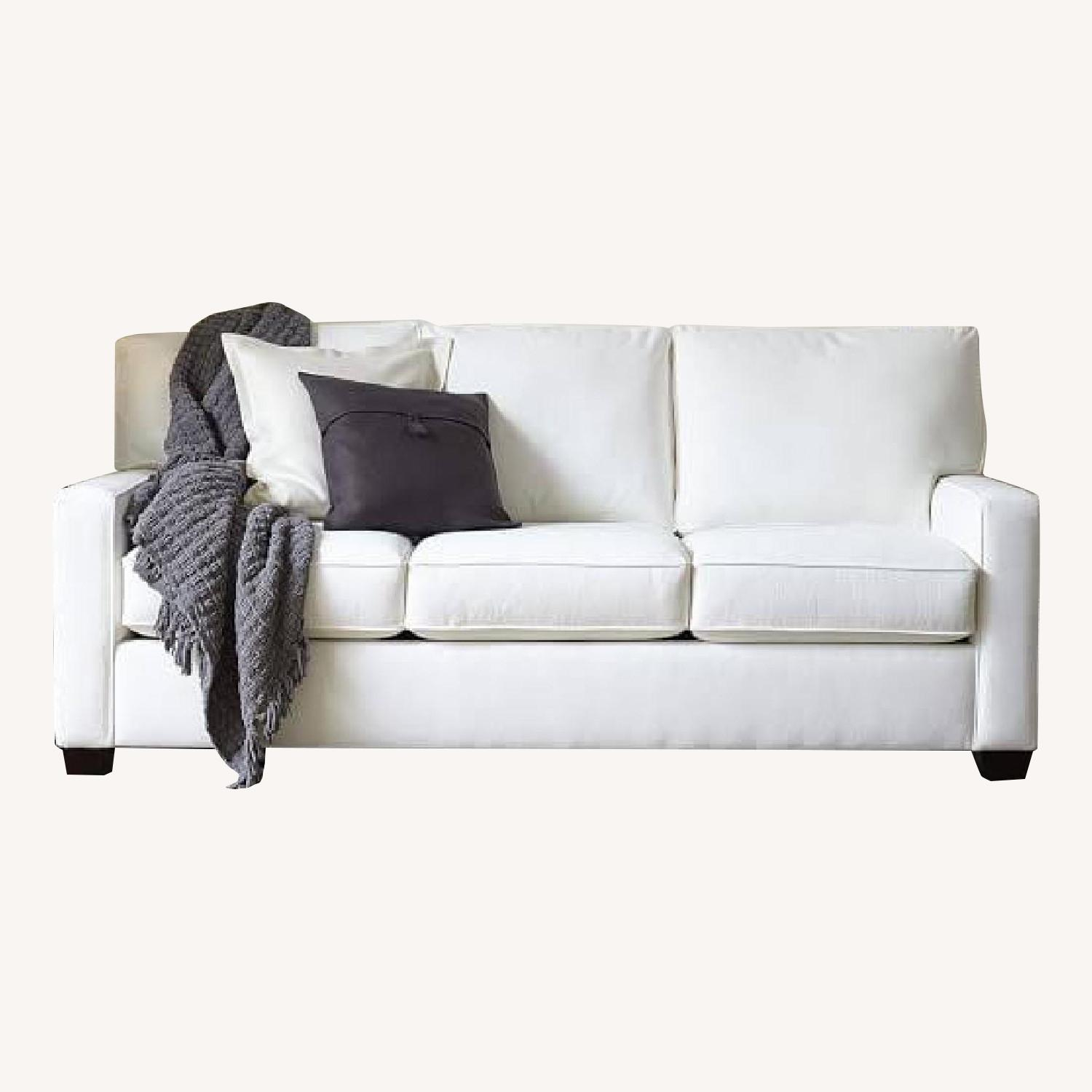 Pottery Barn Buchanan Square Arm Upholstered Couch - image-0