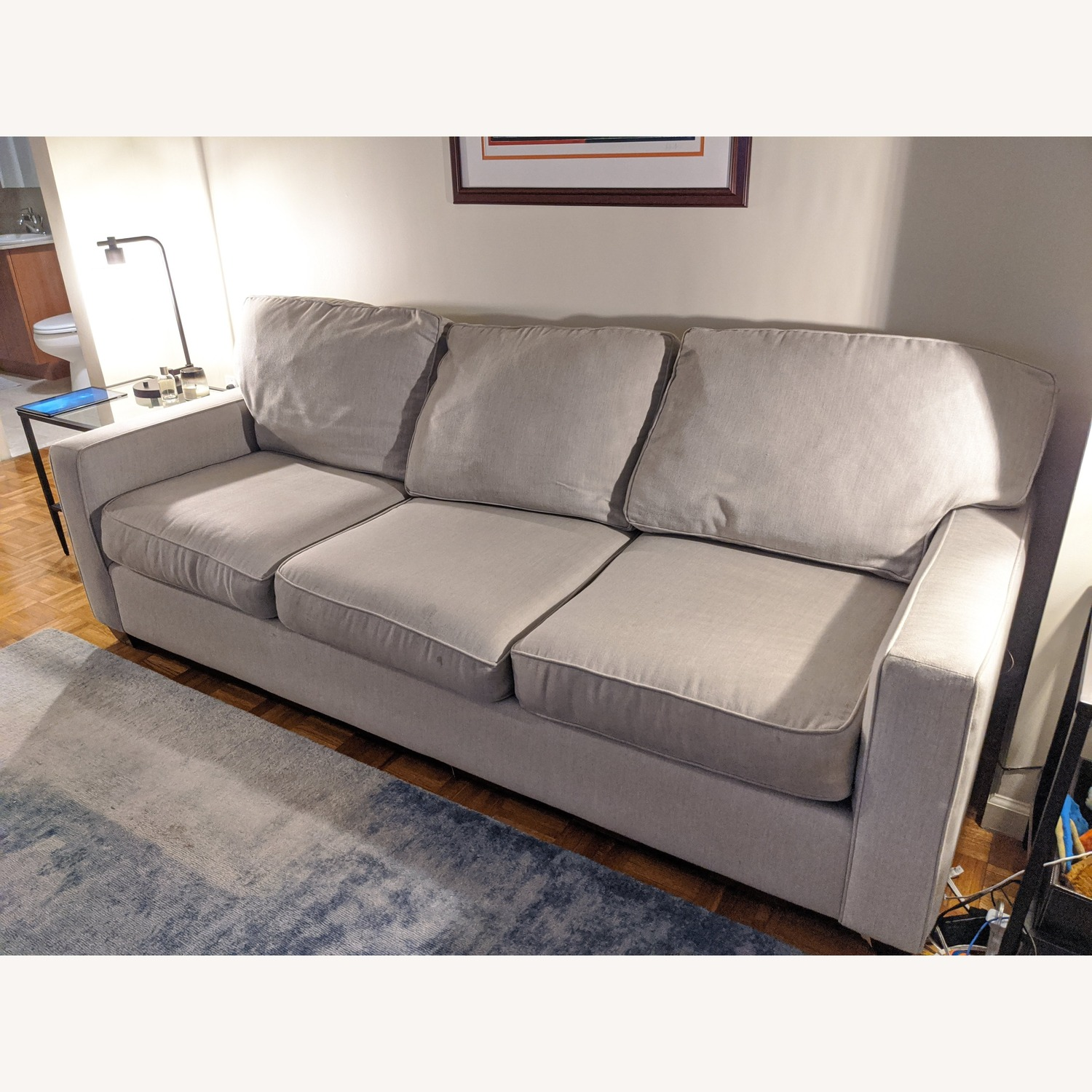 Pottery Barn Buchanan Square Arm Upholstered Couch - image-2