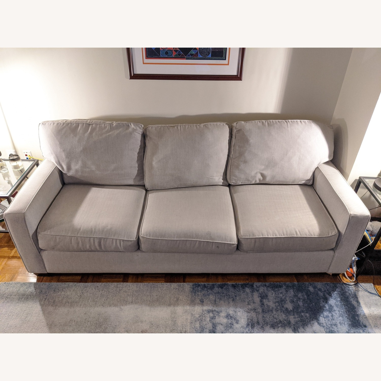 Pottery Barn Buchanan Square Arm Upholstered Couch - image-1