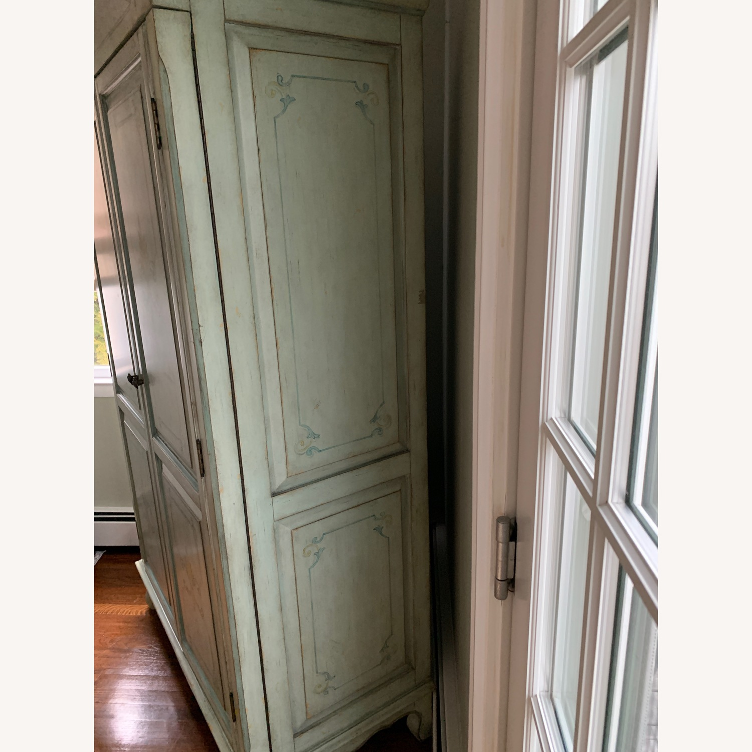 Distressed Painted Armoire - image-3