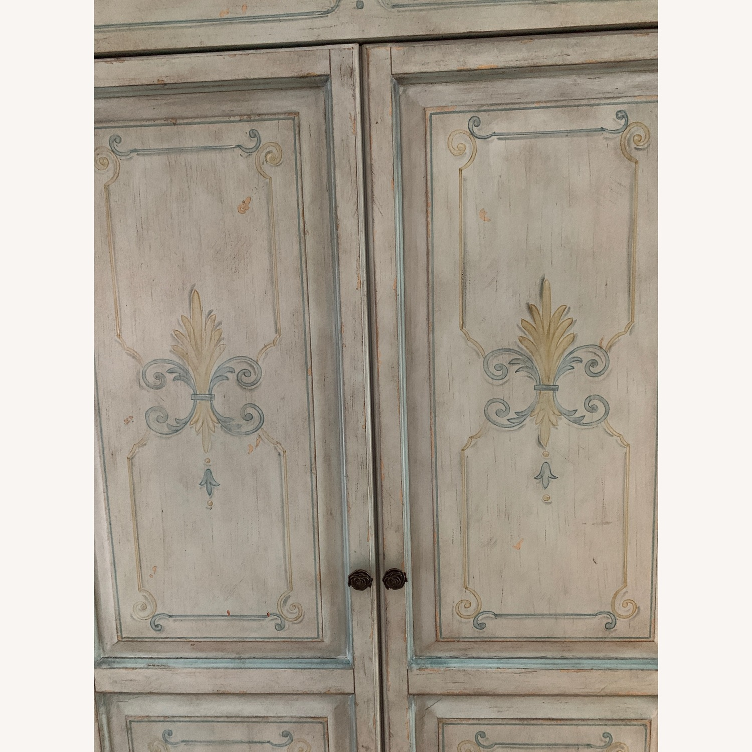 Distressed Painted Armoire - image-8