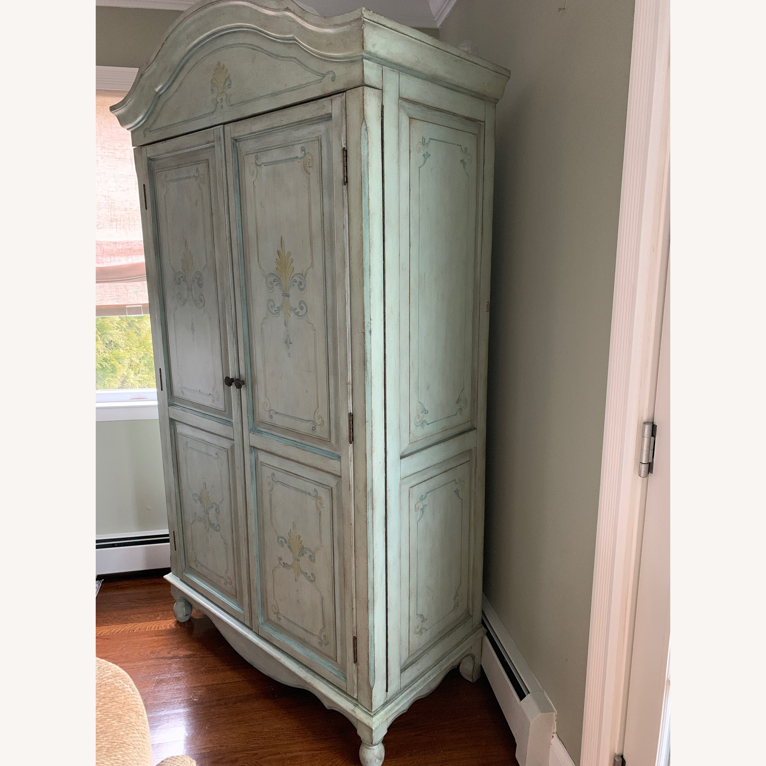 Distressed Painted Armoire - image-2