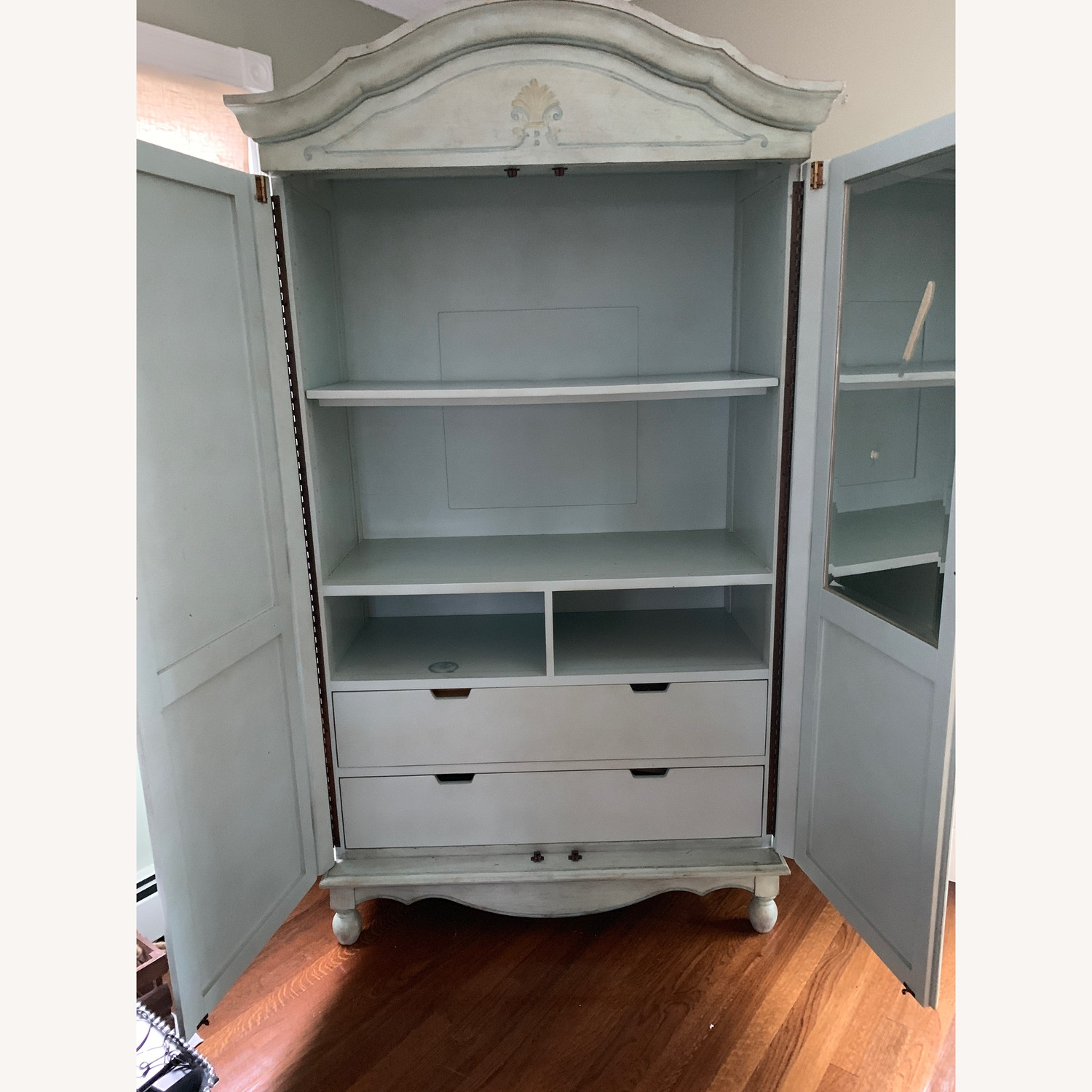 Distressed Painted Armoire - image-5