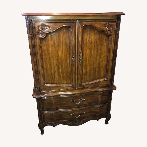 Used Stanley Furniture vintage 1970s Wooden Armoire for sale on AptDeco