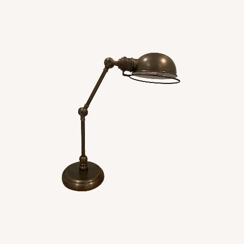 Used Restoration Hardware Brass Task Table Lamp for sale on AptDeco