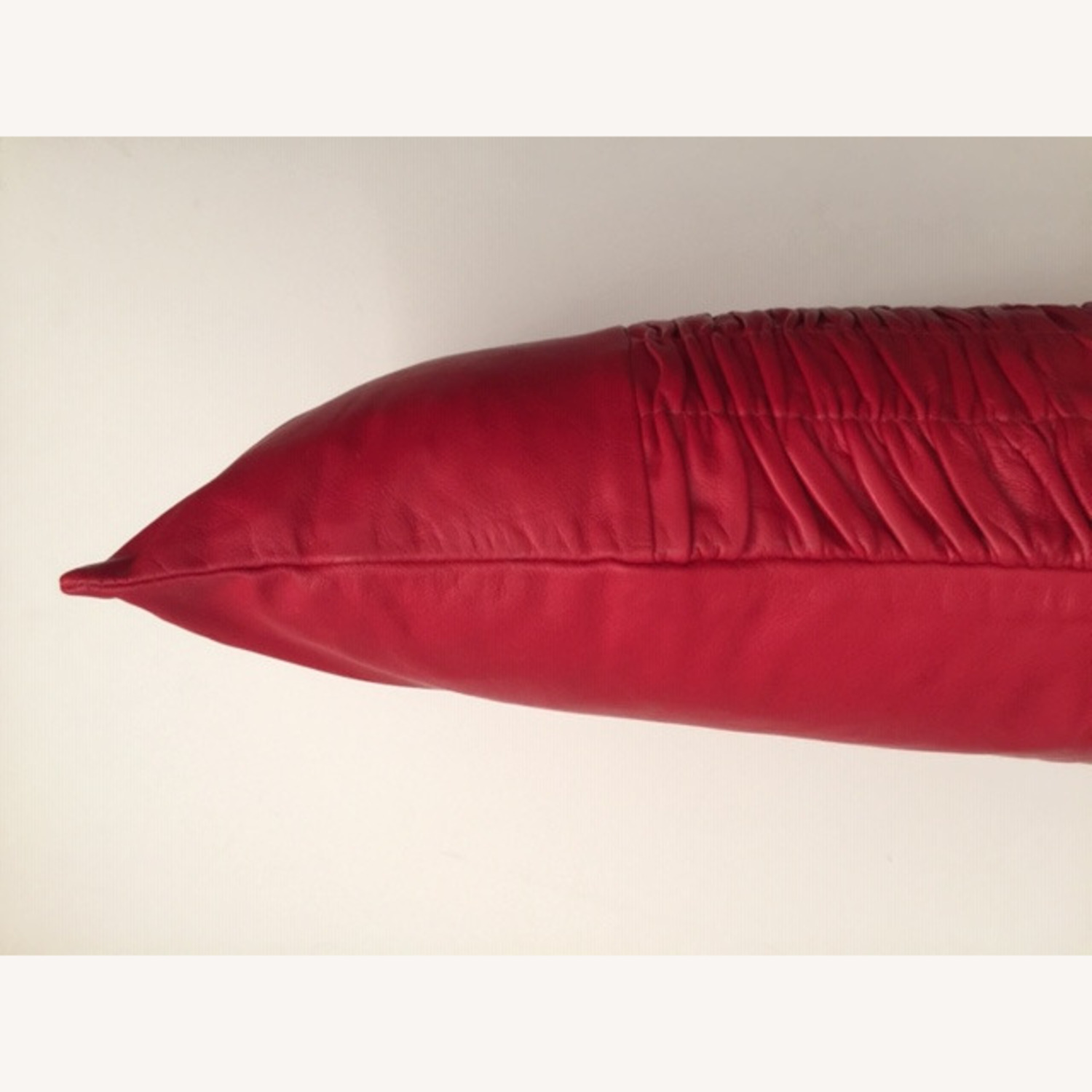 Modern Ruched Leather Pillow