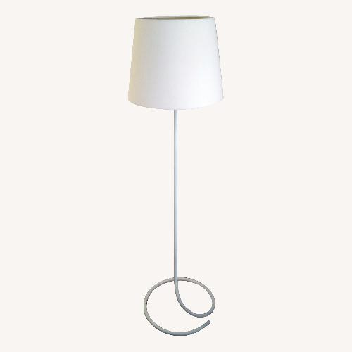 Used BoConcept White Metal Spiral base Minimalist Floor Lamp for sale on AptDeco