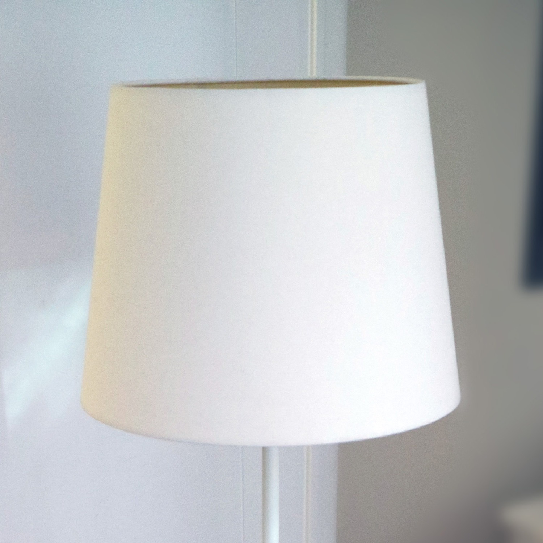 BoConcept White Metal Spiral base Minimalist Floor Lamp