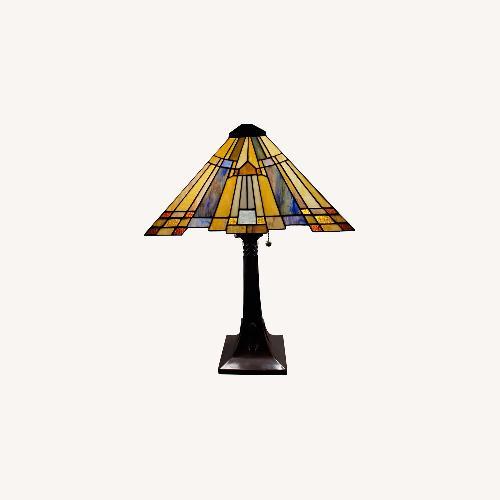 Used Raymour & Flanigan Tiffany Style lamp for sale on AptDeco