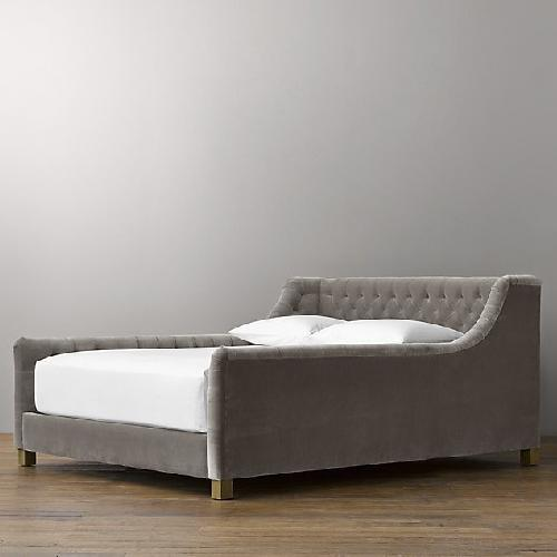 Used Restoration Hardware Tufted Twin Bed for sale on AptDeco