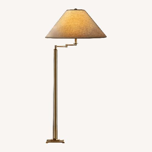 Used Restoration Hardware French Column Glass Floor Lamp for sale on AptDeco