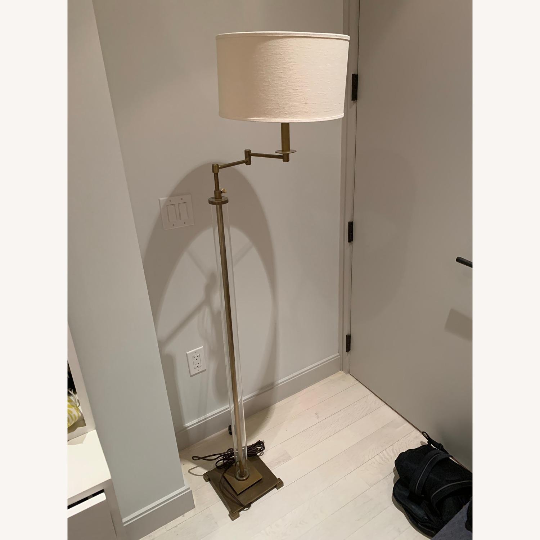 Restoration Hardware French Column Glass Floor Lamp