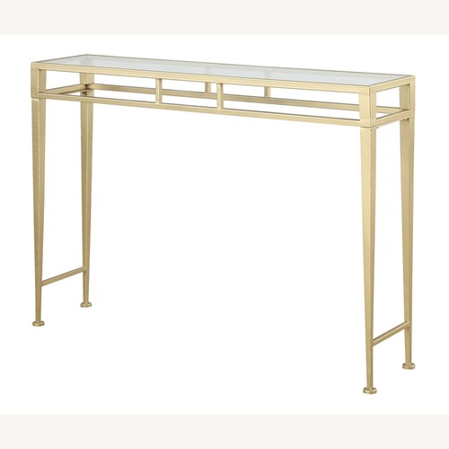 Used AllModern Gold / Glass Console Table for sale on AptDeco