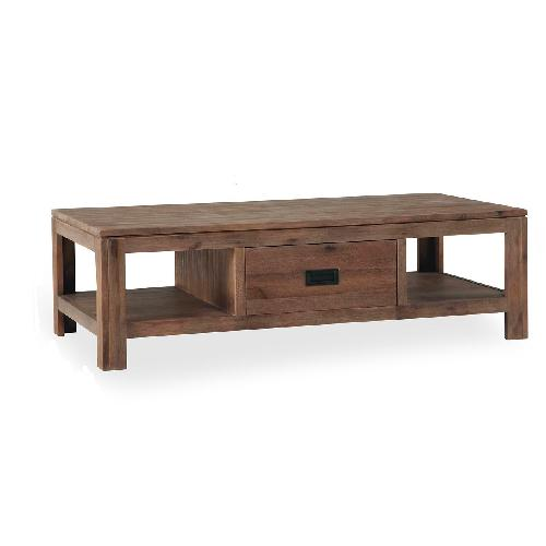 Used Cresent Furniture Acacia Wood Coffee Table for sale on AptDeco
