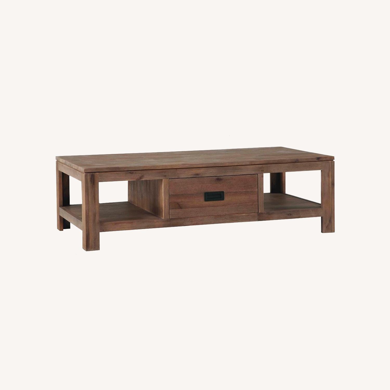 Cresent Furniture Acacia Wood Coffee Table