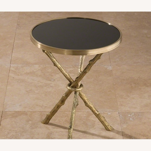 Used Williams Sonoma Accent Table with Marble Top for sale on AptDeco