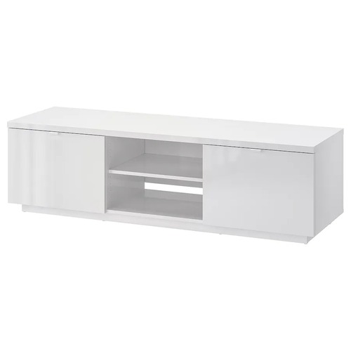 Used IKEA White TV Stand with Big Storage Space for sale on AptDeco