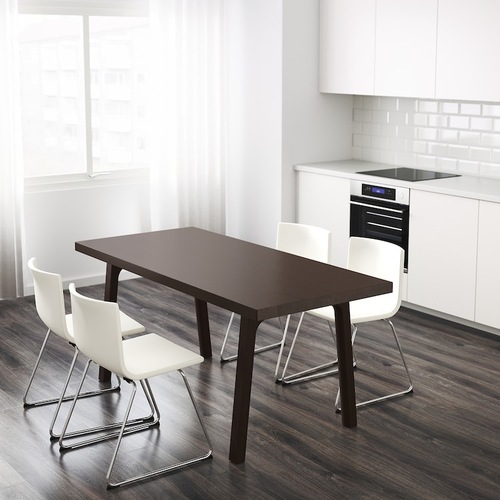 Used IKEA Vastanby dinning table + assorted Bench for sale on AptDeco