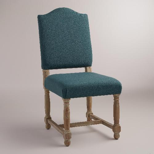 Used World Market Teal/blue Upholstered Accent Chair for sale on AptDeco
