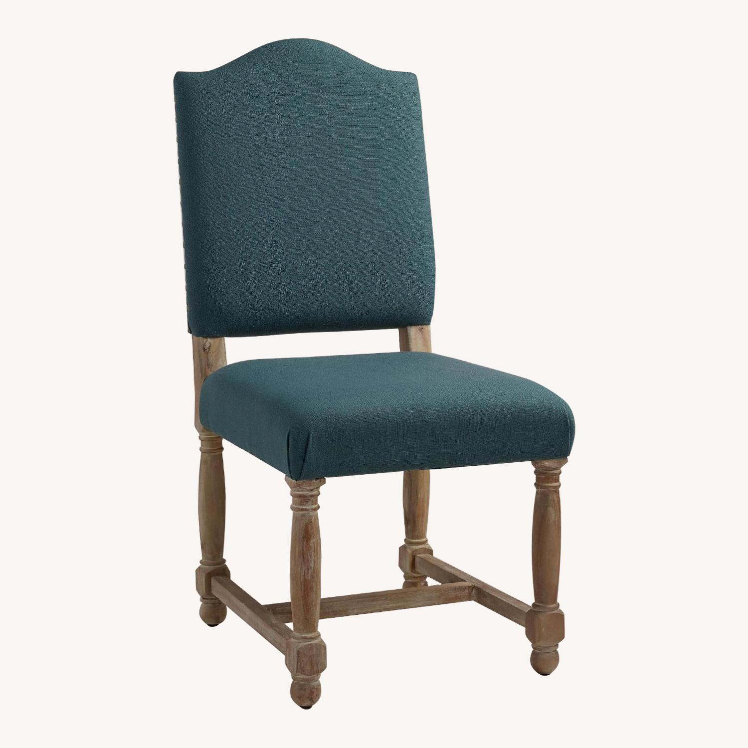 World Market Teal/blue Upholstered Accent Chair