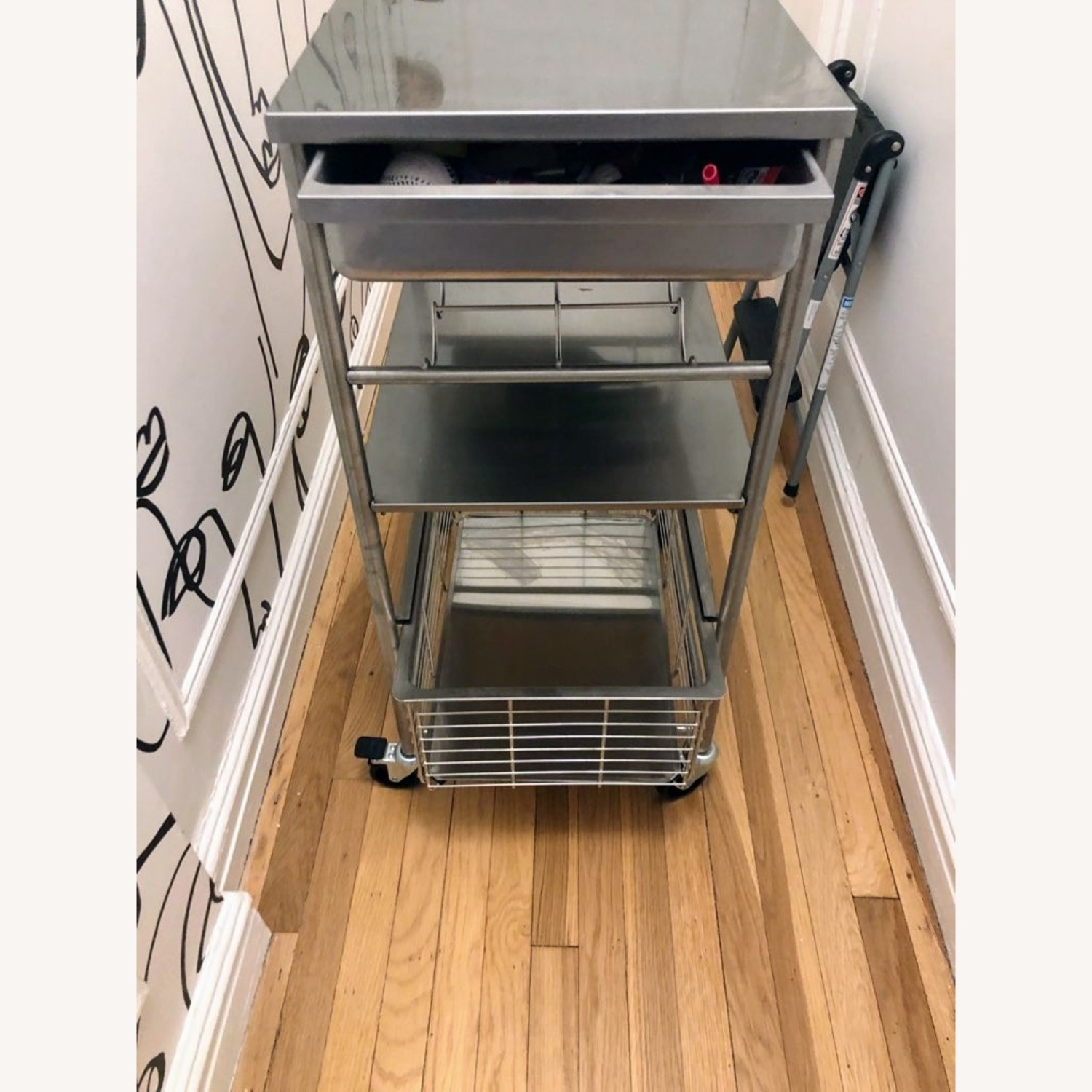 IKEA Kitchen Cart with Wine Rack
