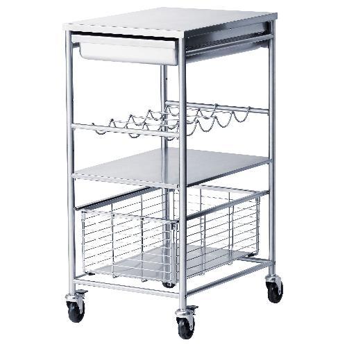 Used IKEA Kitchen Cart with Wine Rack for sale on AptDeco