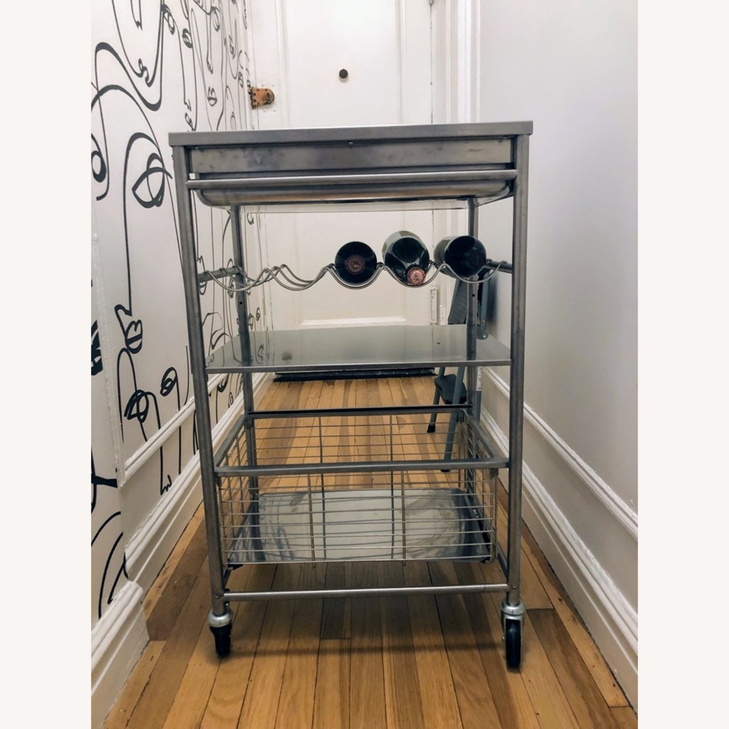 Ikea Kitchen Cart With Wine Rack Aptdeco