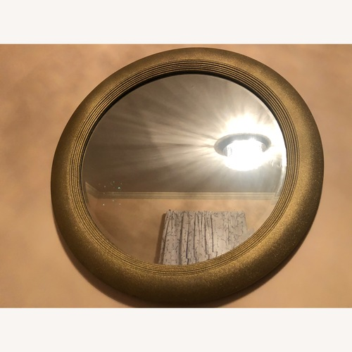 Used Gold Round Mirror for sale on AptDeco