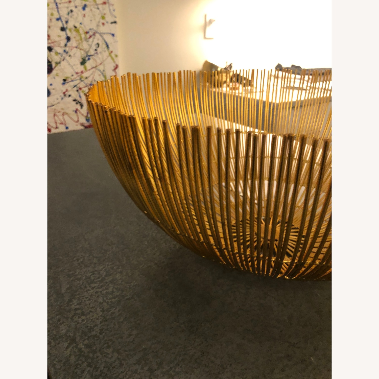 CB2 Modern gold and Brass Wire Bowls