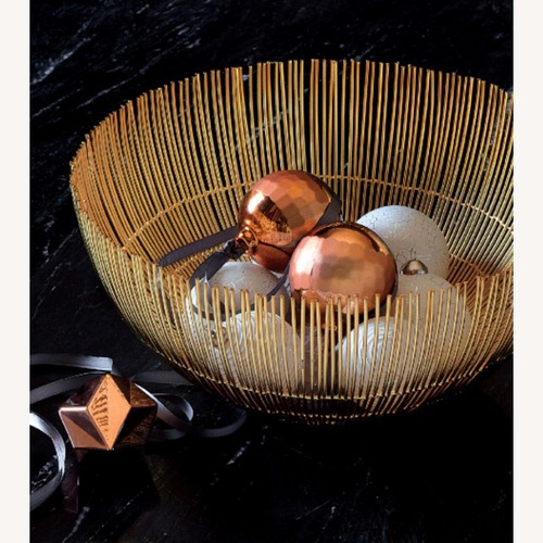 Used CB2 Modern gold and Brass Wire Bowls for sale on AptDeco