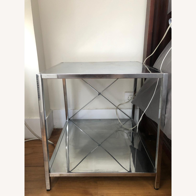 CB2 Modern Chrome End Table