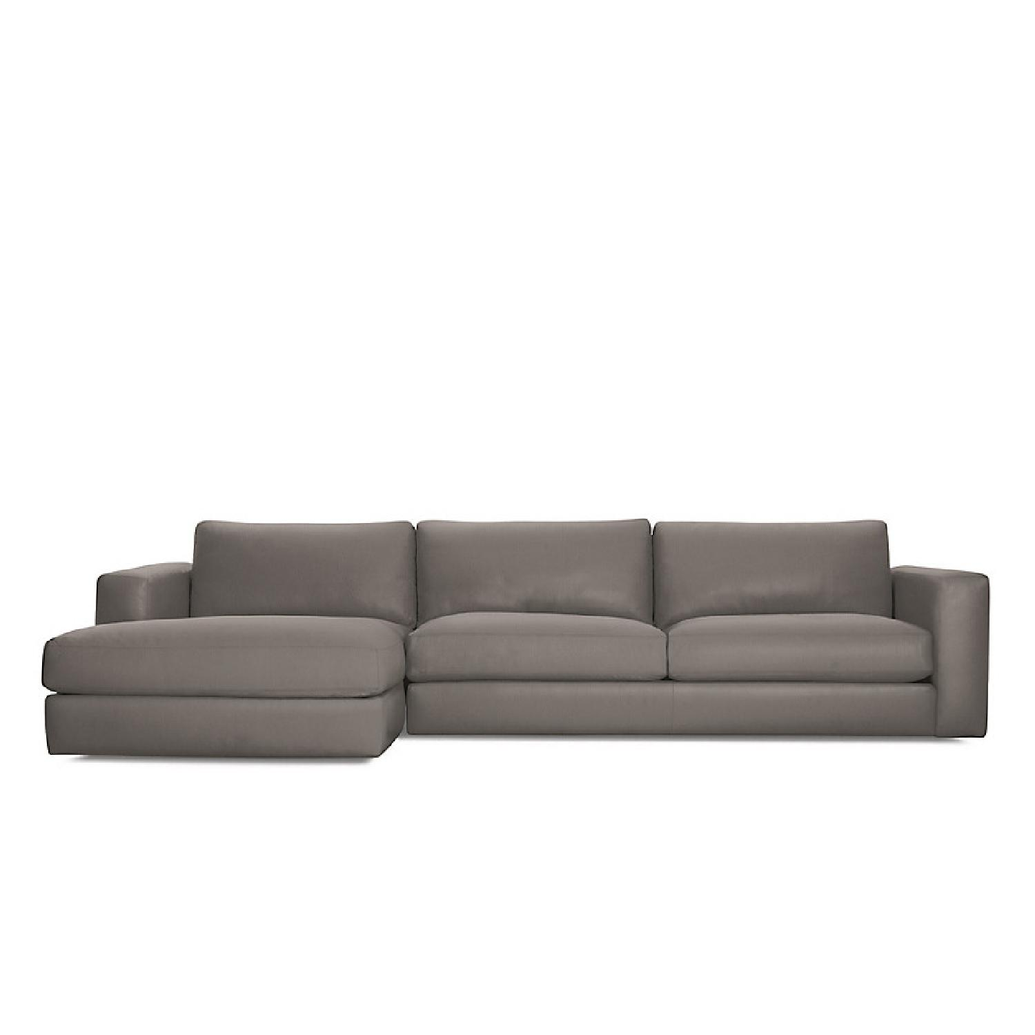 DWR Reid Sectional Leather Sofa