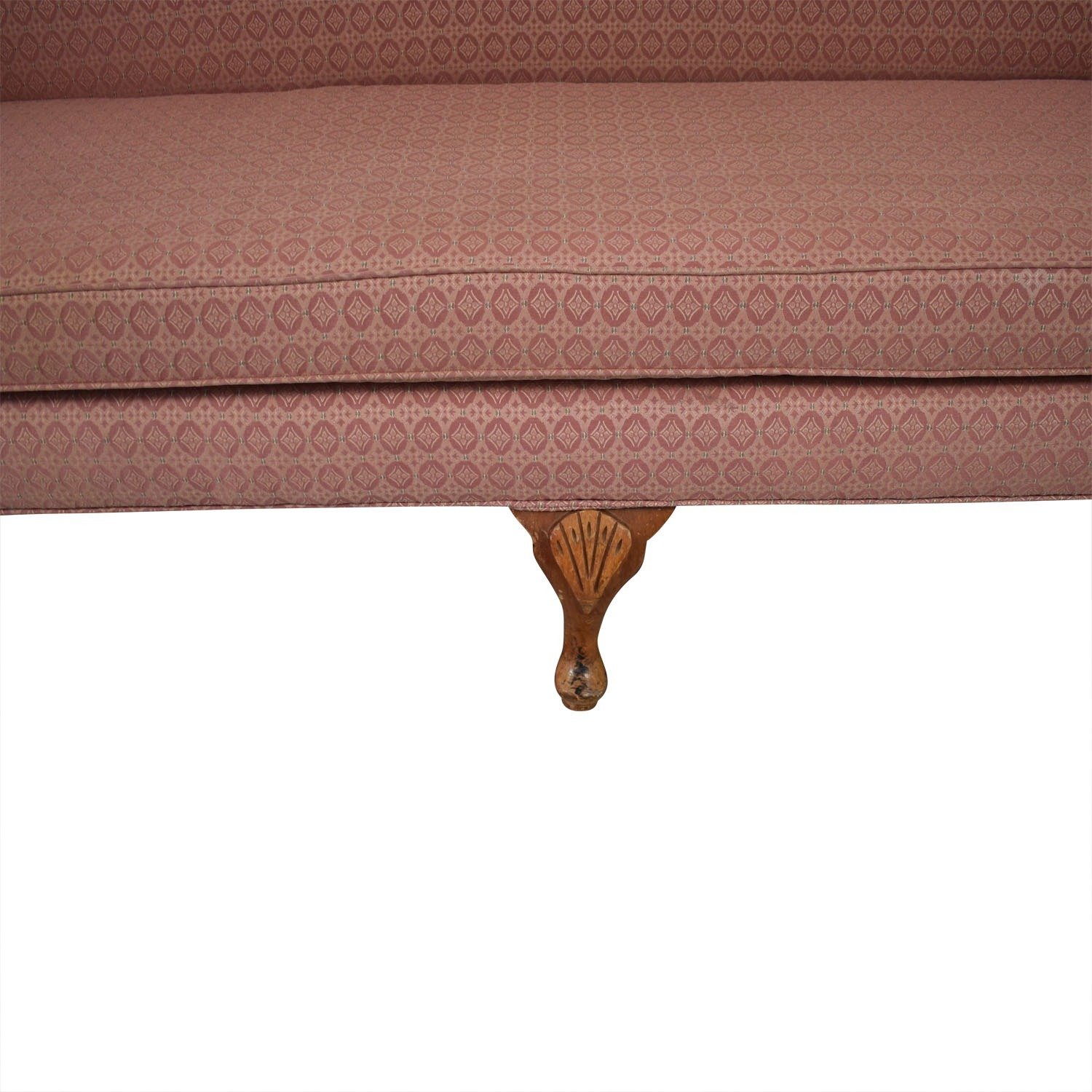 American Furniture  Camel Back Round Arm Sofa
