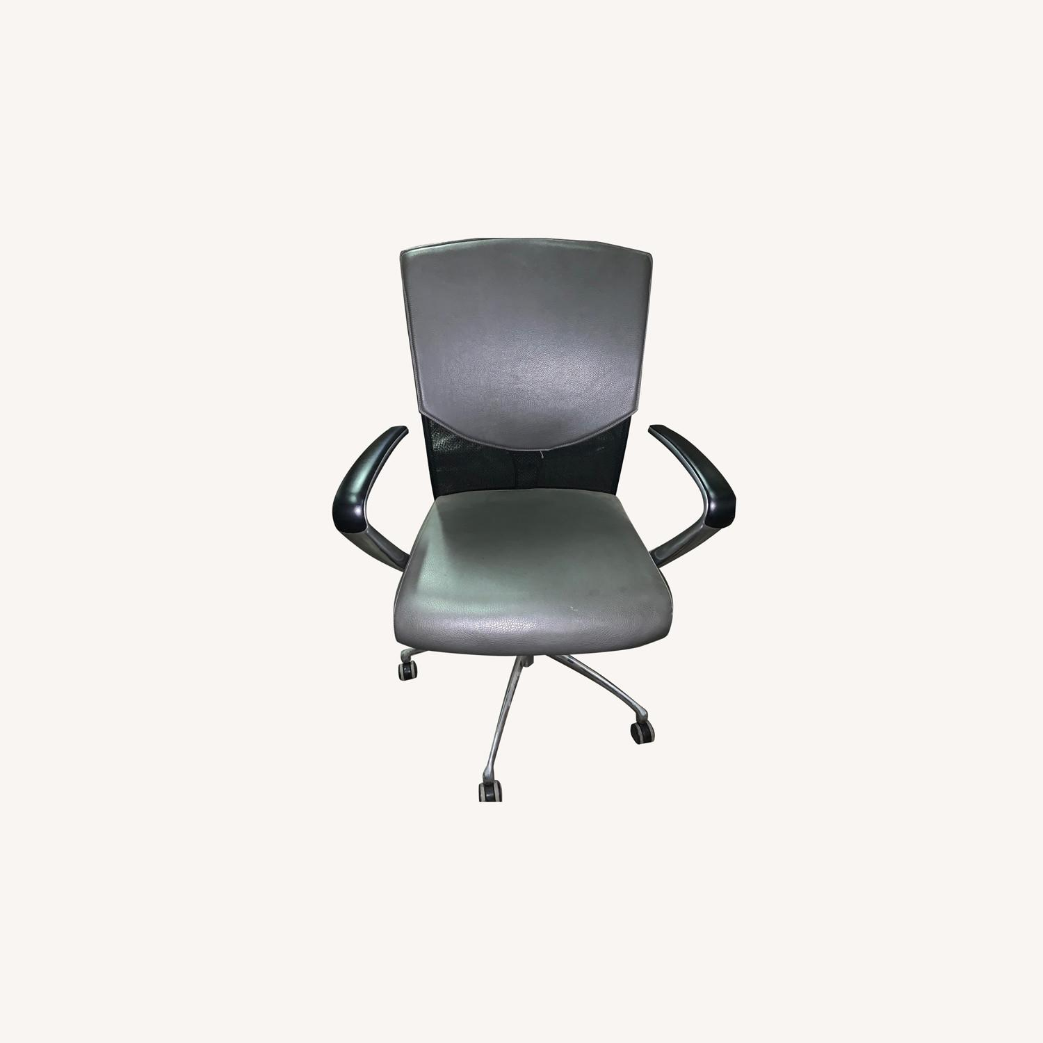Gunlocke Attract Leather and Mesh Chair