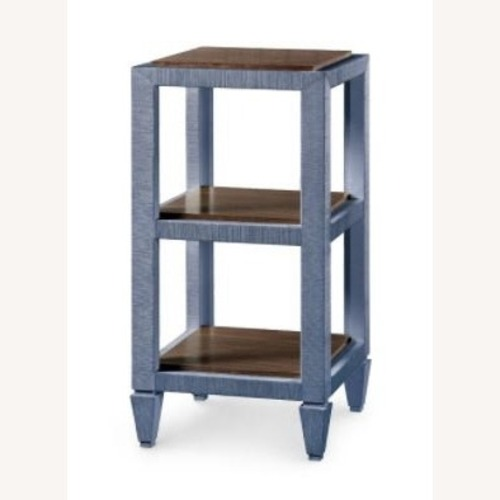 Used Bungalow 5 Lacquered Grasscloth Side Tables for sale on AptDeco