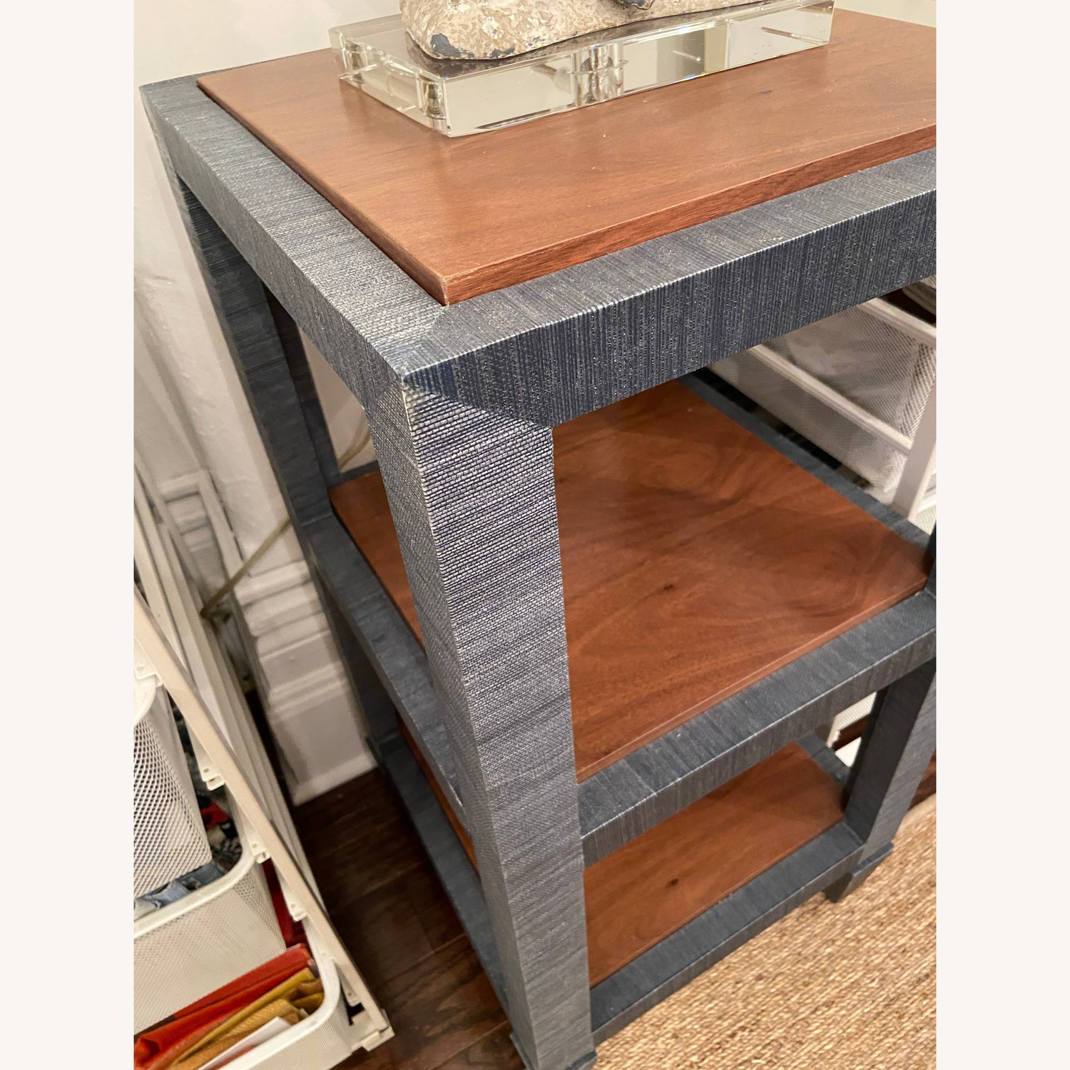 Bungalow 5 Lacquered Grasscloth Side Tables