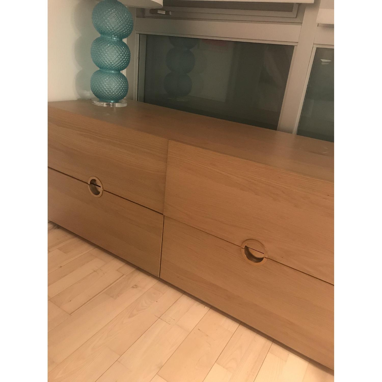 CB2 Low Dresser with Brass Circular Pulls