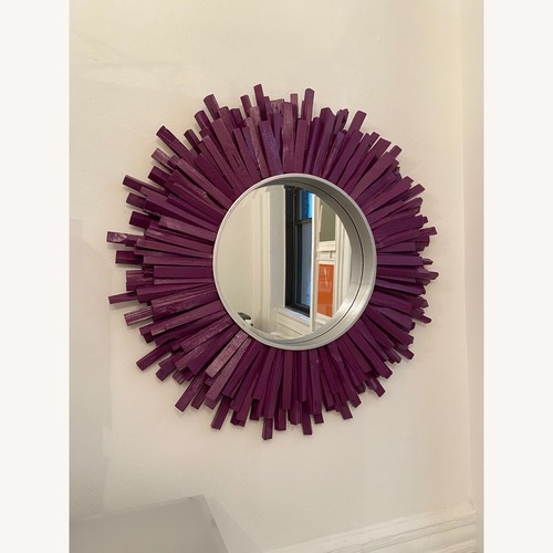 Used Pier 1 Imports Wood Sunburst Mirror for sale on AptDeco