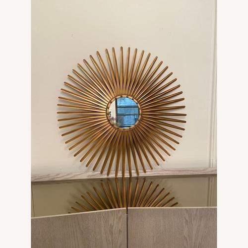 Used Pier 1 Imports Gold Sunburst Mirror for sale on AptDeco