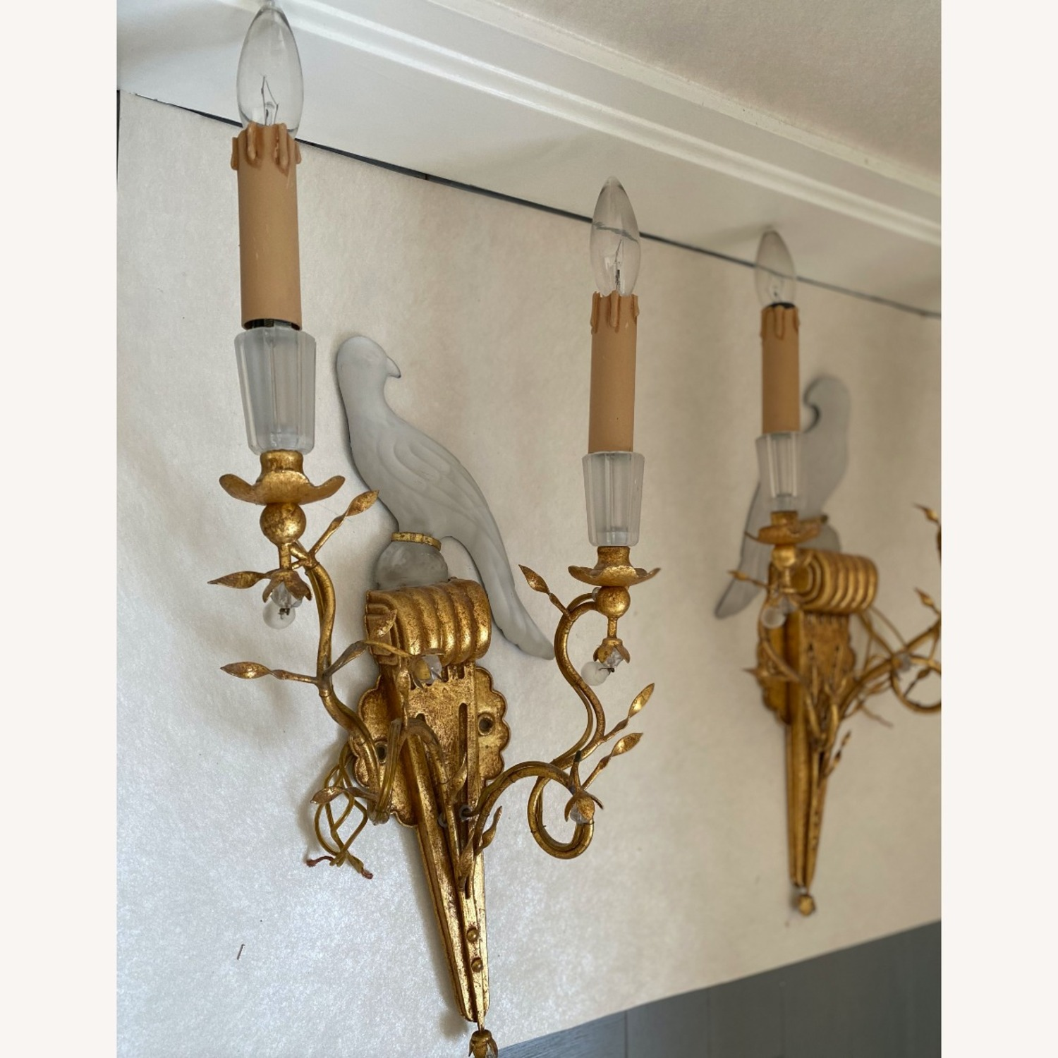 Sherle Wagner Crystal Bird Sconces