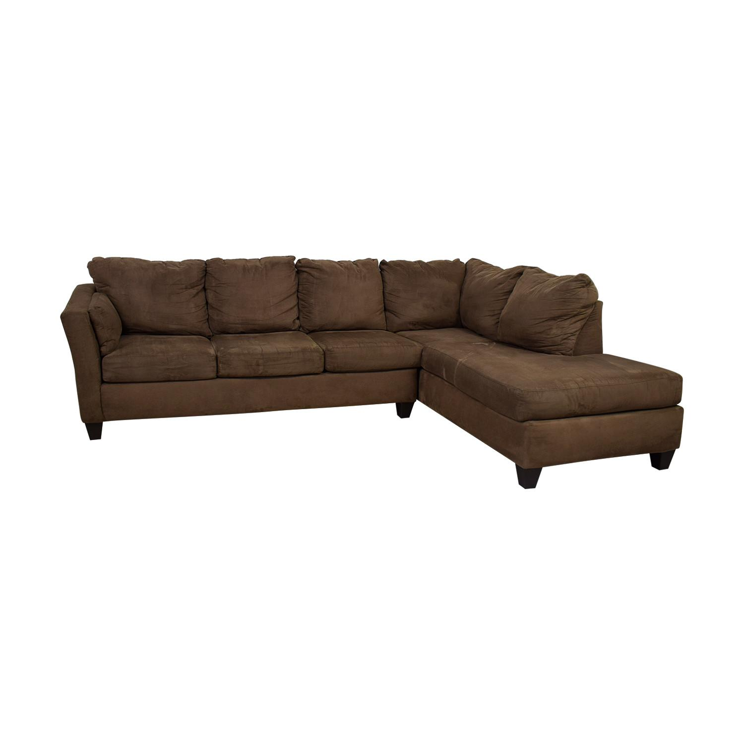 Bob's Discount 3 Piece Brown Sectional